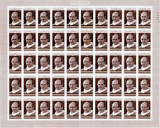 Ruanda 1970 Mi.Nr: 431 Komplettbogen, Vatikan Päpste, Postfrisch** (50 Marken)