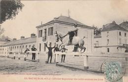 SAUMUR - Officier Supérieur Du Cadre Sautant Les Lices - éditions Voelcker  114 - Saumur