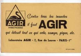 Buvard - Agir, Insecticides - Paris - Blotters