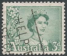 Australia. 1959-63 QEII Definitives. 3d Used. SG 311 - 1952-65 Elizabeth II : Pre-Decimals