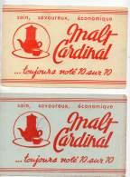 Lot De 2 Buvards Malt Cardinal - Blotters