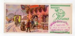 Buvard - Montres Herma - J. Sautard, Vésines-Chalette (Loiret) - Buvards, Protège-cahiers Illustrés