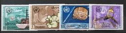 TS28 - DUBAI 1970 Mi. 365-368 Complete Set 4v. World Meteorological Day Ship, Plane, Satellites, Radars - Dubai