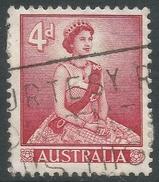 Australia. 1959-63 QEII Definitives. 4d Type I Used. SG 313 - 1952-65 Elizabeth II : Pre-Decimals