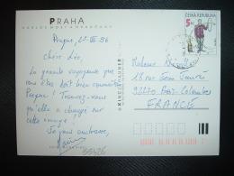 CP Pour La FRANCE TP JIRI SLIVA 5 KC OBL.25 3 96 PRAHA - Tchéquie