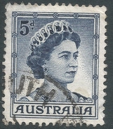 Australia. 1959-63 QEII Definitives. 5d Type A Used. SG 314 - 1952-65 Elizabeth II : Pre-Decimals