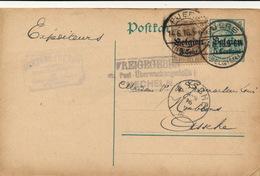 PUURS 1916 - PEETERS FRERES   NAAR ASSE VAN GINDERACHTER MET DUITSE CONTROLE STEMPEL - 2 AFBEELDINGEN