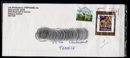 Lil3H99 CANADA Lettre Avec Timbres Fraises Sauvages + Alfred Pellan