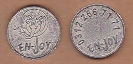 AC - ENJOY GAME AMUSEMENT TOKEN JETON - Pièces écrasées (Elongated Coins)