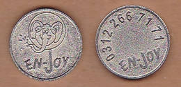 AC - ENJOY GAME AMUSEMENT TOKEN JETON - Souvenirmunten (elongated Coins)
