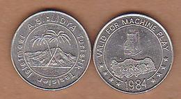 AC - LIDYA HOTEL GAME - AMUSEMENT TOKEN - JETON FROM TURKEY - Souvenirmunten (elongated Coins)
