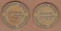 AC - DEDEMAN HOTEL CASINO NET GAME - AMUSEMENT TOKEN - JETON FROM TURKEY - Pièces écrasées (Elongated Coins)