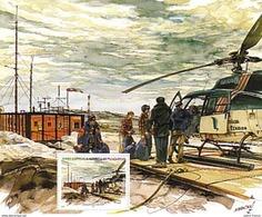 Polaire Antarctique - TAAF 2001 - Feuillet Du Carnet De Voyage 321 ** : HELICOPTERE, DEPART DU COURRIER