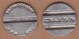 AC - SAMANYOLUNET GAME - AMUSEMENT TOKEN - JETON FROM TURKEY - Souvenirmunten (elongated Coins)