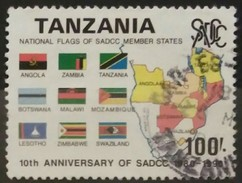 TANZANIA 1990 The 10th Anniversary Of Southern African Development Coordination Conference. USADO - USED. - Tanzania (1964-...)