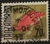 TANZANIA 1967 Marine Life - Fish. USADO - USED.