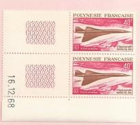 CONCORDE  POSTE AERIENNE AVION COIN DATE COINS DATES POLYNESIE FRANCAISE