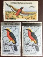 Mali 1960 Birds Surcharge Overprints MH - Vögel