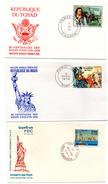 4 Cartas De Diferentes Paises  Commemorativas Centenario De La Independencia De Estados Unidos.