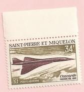 CONCORDE  POSTE AERIENNE AVION SAINT PIERRE ET MIQUELON PA N° 43