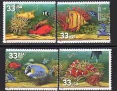 USA 1999 Aquarium Fish Set Of 4, MNH (SG 3623/6) - Nuovi