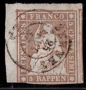 Schweiz, Strubli 5 Rp., Eckrand!  , #8265
