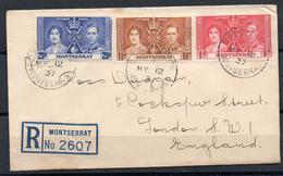 Montserrat 1937, 12. May: 1 D - 2 1/2 D Coronation On A Registered FDC-envelope; S.G. 98-100