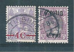 Pays Bas Timbres De 1919/21  N°94 + 98  Oblitérés - 1891-1948 (Wilhelmine)