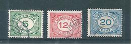 Pays Bas Timbres De 1921  N°103 A 105 Oblitérés
