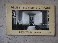 BENNWIHR  EGLISE STS PIERRE ET PAUL   LOT DE 6 CARTES - Frankrijk