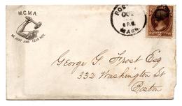 Carta De Estados Unidos Antigua. - 1847-99 Emisiones Generales
