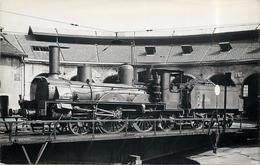 LOCOMOTIVE N°121 A 340 Bordeaux (photo Fenino Format Carte Ancienne). - Eisenbahnen