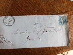Lt Du27.05.17_ LSC  Avec N°22,cachet Perlée De  La Balme (37) GC 298  ,ind 11+ - Marcophilie (Lettres)