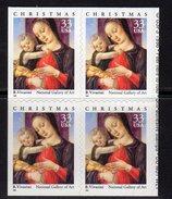USA 1999 Christmas Madonna & Child Block Of 4, MNH (SG 3696) - Nuovi