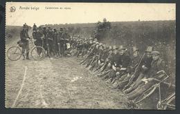 +++ CPA - Militaria - ARMEE BELGE - Carabiniers Au Repos - Armes - Vélo - Nels  // - Manoeuvres