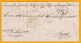 1839 - Lettre Avec Correspondance De JICIN, Aujourd'hui En Rép Tchèque Vers GYOR, RAAB, Auj. En Hongrie - Otros - Europa