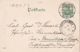 17701# GERMANIA CARTE POSTALE KATH KIRCHE Obl BADEN BADEN 1903 Pour WEIMESCHKIERCH DOMMELDANGE LUXEMBOURG