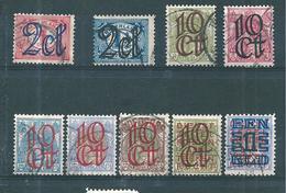 Pays Bas Timbres De 1923  N°111 A 117 + 129/30  Oblitérés - 1891-1948 (Wilhelmine)