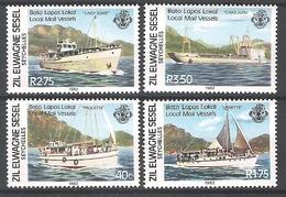 ZES 1982 Local Mail Vessels MNH CV £2.45