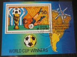 Briefmarken Asien Block Fußball WM 1978 Korea