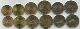 Macedonia 1993 - 2016. UNC Set Of 6 Coins : 50 Deni + 1 , 2 , 5 , 10  And 50 Denari - Macédoine
