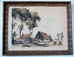 Roger HEBBELINCK (1912-1987)  - Gravure / Eau-forte - Numérotée, Signée. - Estampes & Gravures
