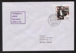 Bund - MiNr. 187 Als EF Auf Brief Mit Postagentur-Stempel 85658 Egmating - Vom 5.9.1996 - [7] West-Duitsland