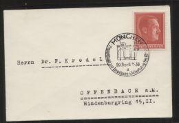 Dt. Reich - MiNr. 664 Als EF Auf Brief Mit SST MÜNCHEN 20.4.1938 - Hauptstadt Der Bewegung - Geburtstag Des Führers - Germany