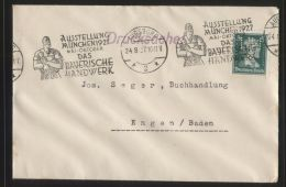 """Dt. Reich - Perfin/Firmenlochung """"HMA"""" Auf Brief Mit Werbe-Band-Stempel AUGSBURG 24.8.1927 - AUSSTELLUNG MÜNCHEN 1927"""