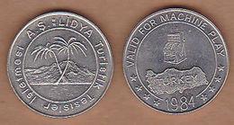 AC - LIDYA HOTEL GAME - AMUSEMENT TOKEN - JETON #2 FROM TURKEY - Souvenirmunten (elongated Coins)