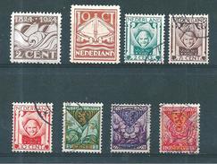 Pays Bas Timbres De 1924/25  N°157 A 164   2 Neufs * Et 6   Oblitérés - 1891-1948 (Wilhelmine)