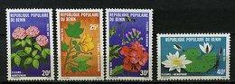 Rep. Benin ** N° 444 à 447 - Fleurs Du Bénin