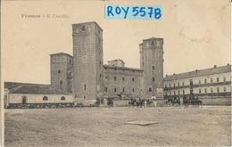 Piemonte-cuneo-fossano Veduta Castello Piazza Con Militari A Cavallo Animata Primi 900 - Italia