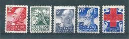 Pays Bas Timbres De 1927 N°190 A 194   Neufs *( N°193 Oblitéré)